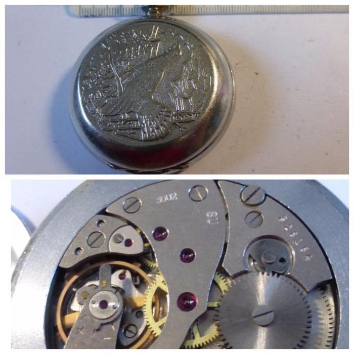 механические часы молния СССР карманные