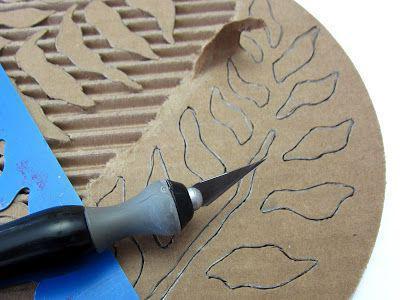 картонное кружево поделки