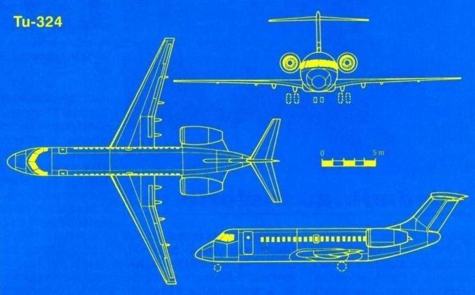 самолет ту 324 характеристики схема