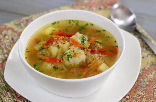суп с фрикадельками из капусты