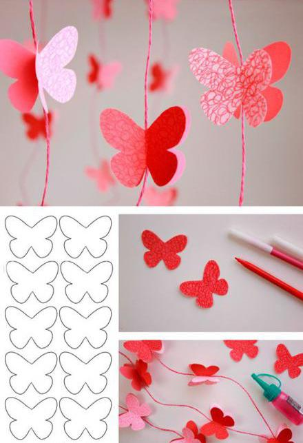 Гофрированные бабочки из бумаги на стену своими руками 29