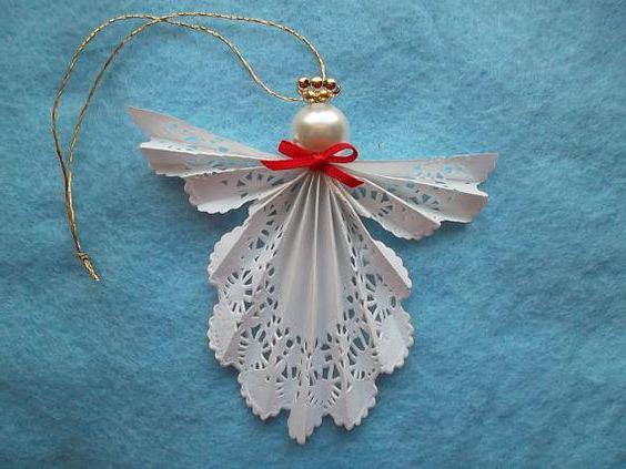 Как сделать ангела из ткани или бумаги
