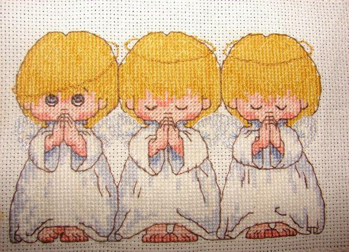 вышивка крестом ангелочки схемы