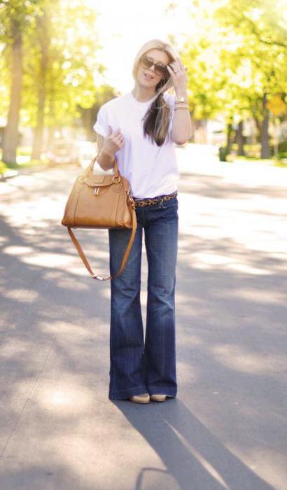 джинсы расклешенные от колена