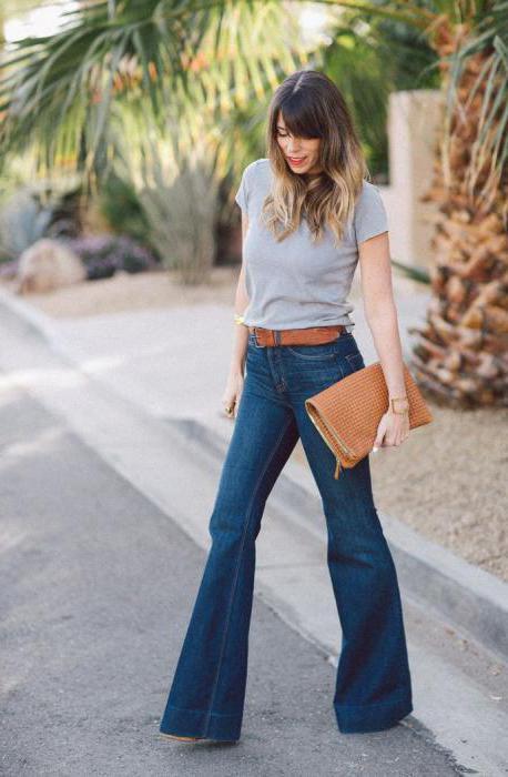 джинсы расклешенные от бедра