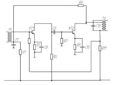 высокочастотный генератор схема