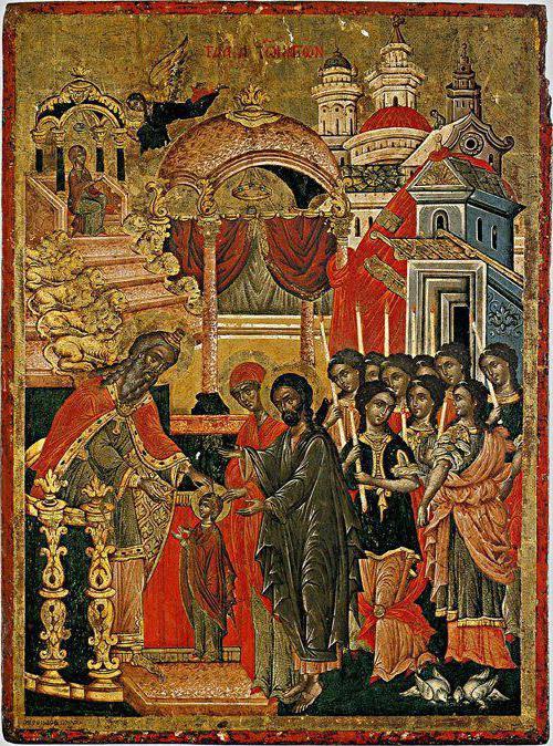 икона введение во храм пресвятой богородицы описание и значение