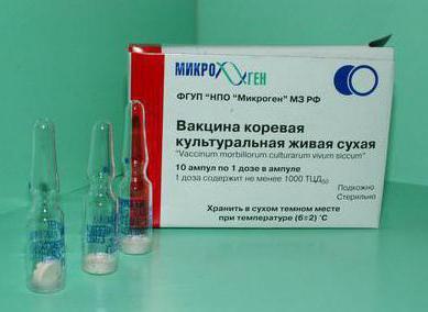 коревая вакцина инструкция по применению