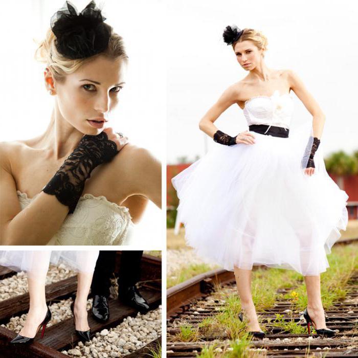 свадебное платье в стиле рок