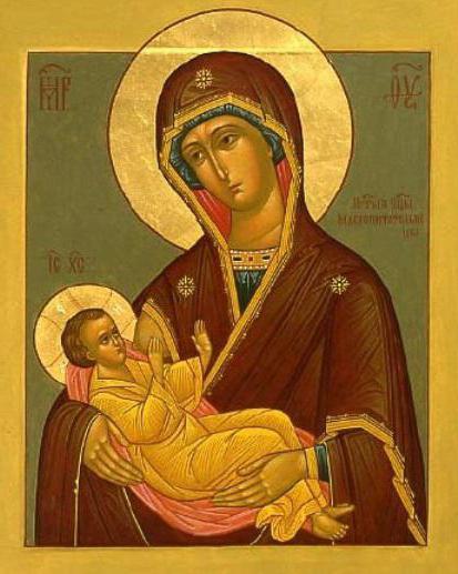 молитва божьей матери млекопитательница