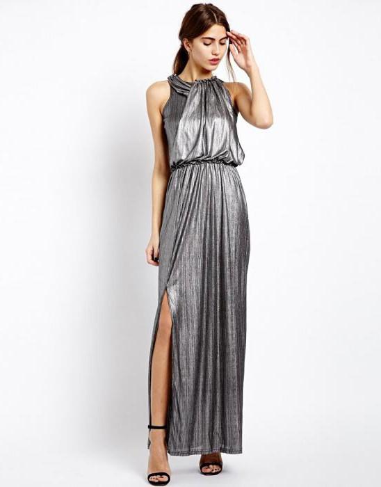 серебристый цвет платья
