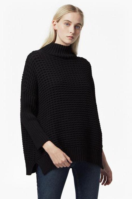 свитер мужской с высоким воротником