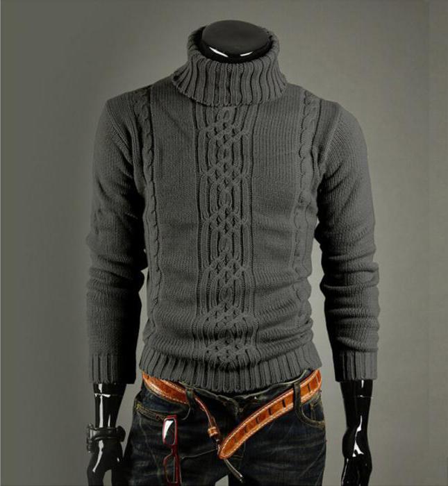 свитер с воротником мужской