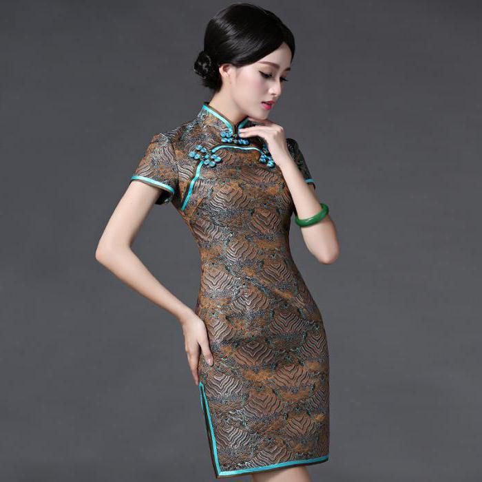 латье в китайском стиле для девочки