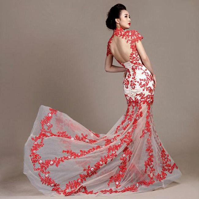 вечернее платье в китайском стиле