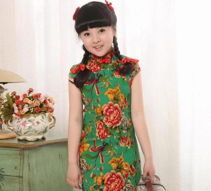 детские платья в китайском стиле