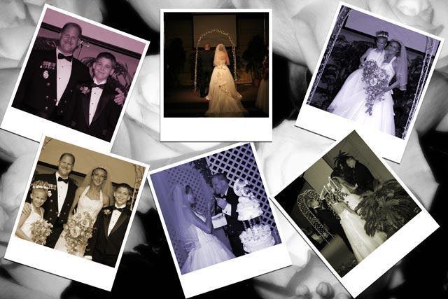 свадебный коллаж в фотошопе