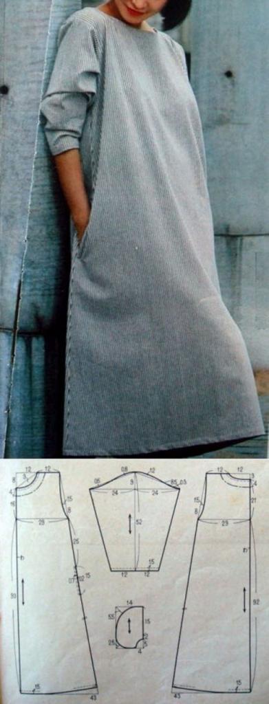 платье трапеция выкройка