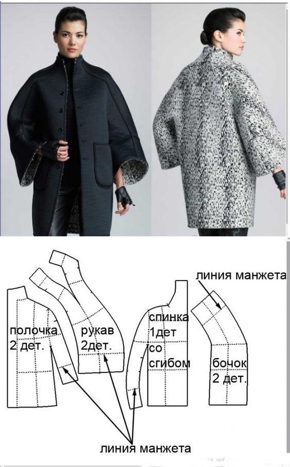выкройка пальто с рукавом реглан фото