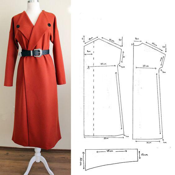 выкройка пальто с рукавом реглан для девочки