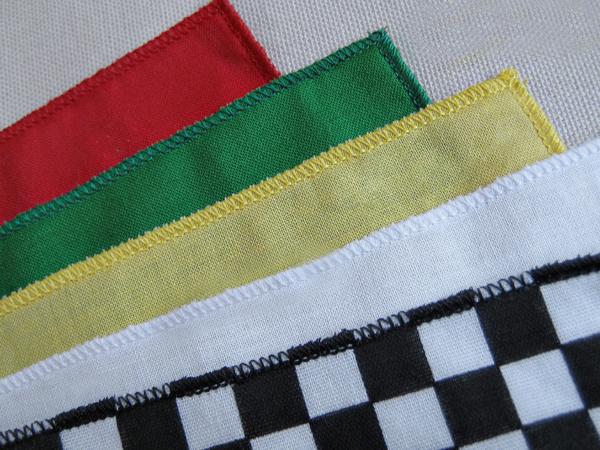 ролевой шов на платках