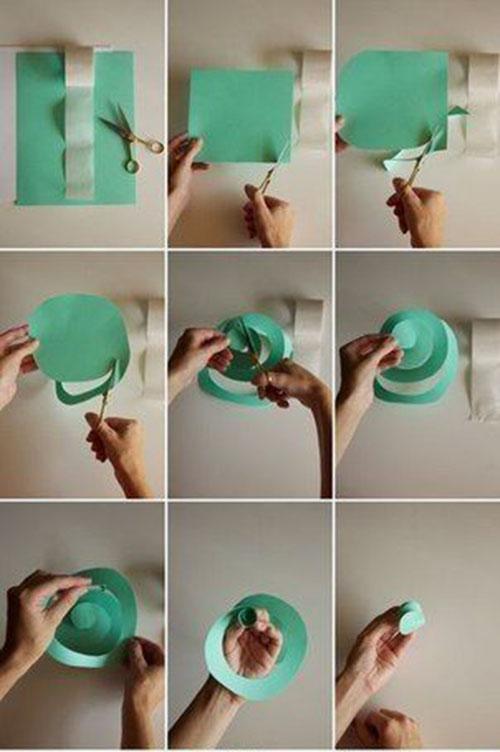 как сделать венки из бумаги своими руками