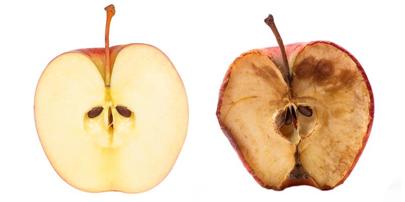 окисление в яблоке