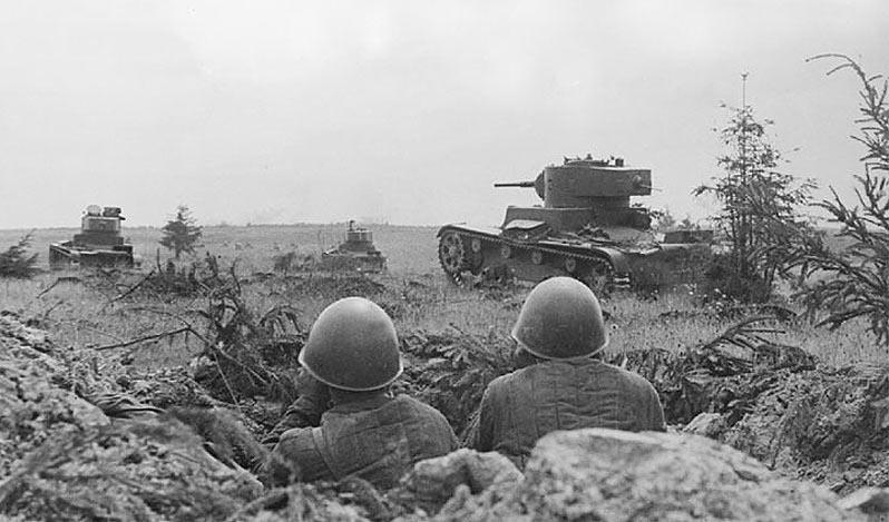 наступление советских танков