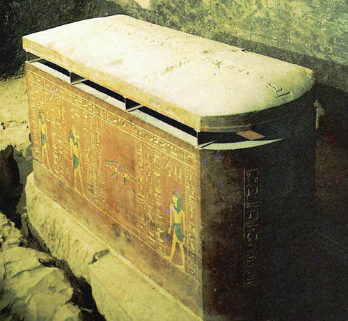 Саркофаг в форме ящика из Долины царей