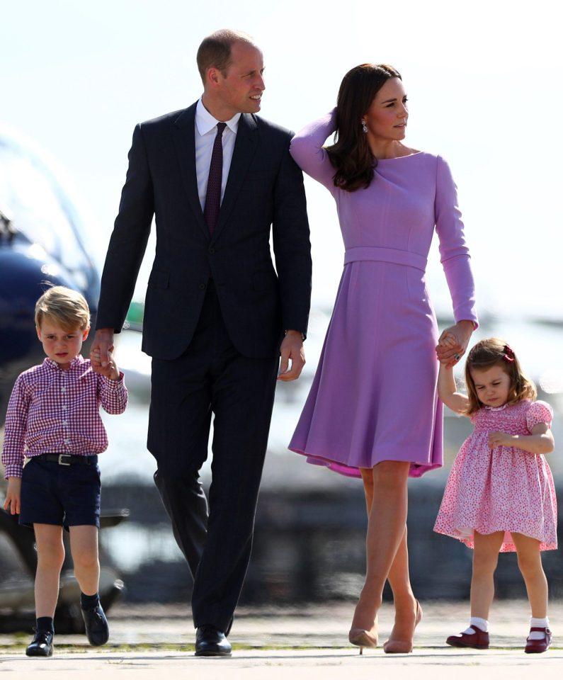 Уильям и Кейт с детьми Джорджем и Шарлоттой