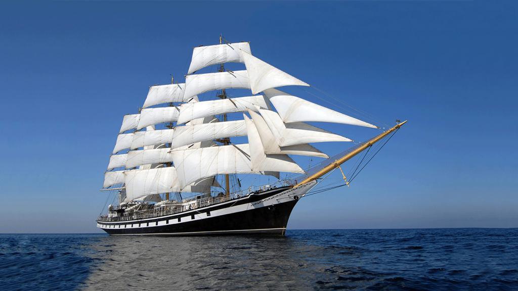 Корабль под парусами