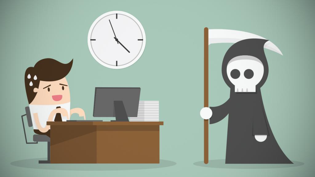 Офисный сотрудник и смерть с косой