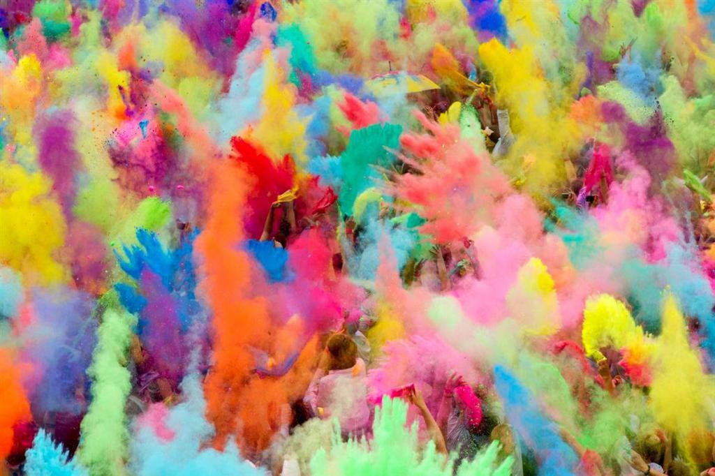 сухие краски холи своими руками