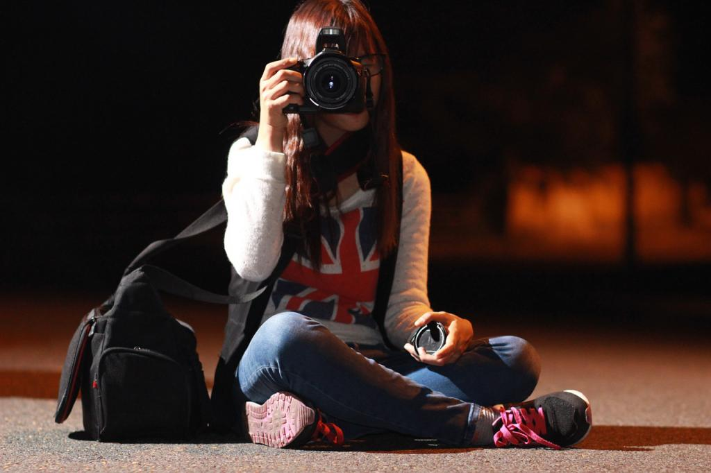 съемка ночью на камеру с объективом Кенон