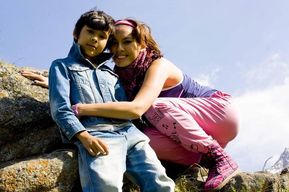Линга Нигматулина с сыном