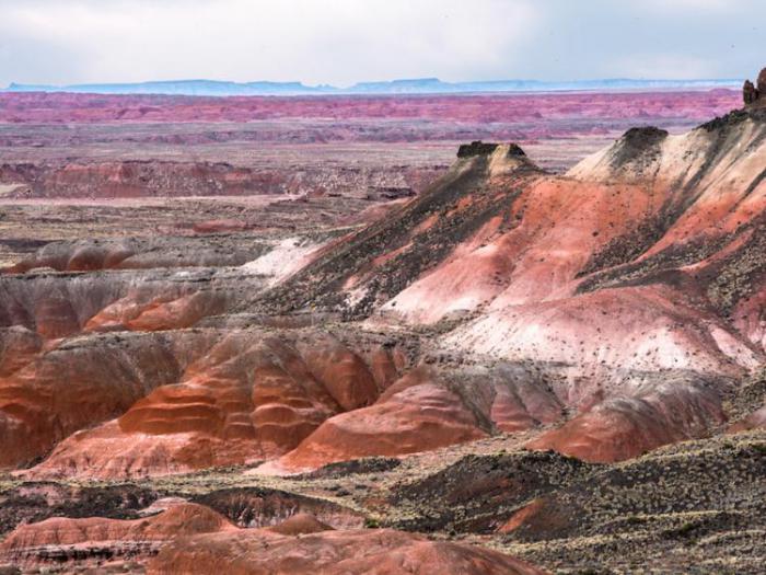 разрисованная пустыня