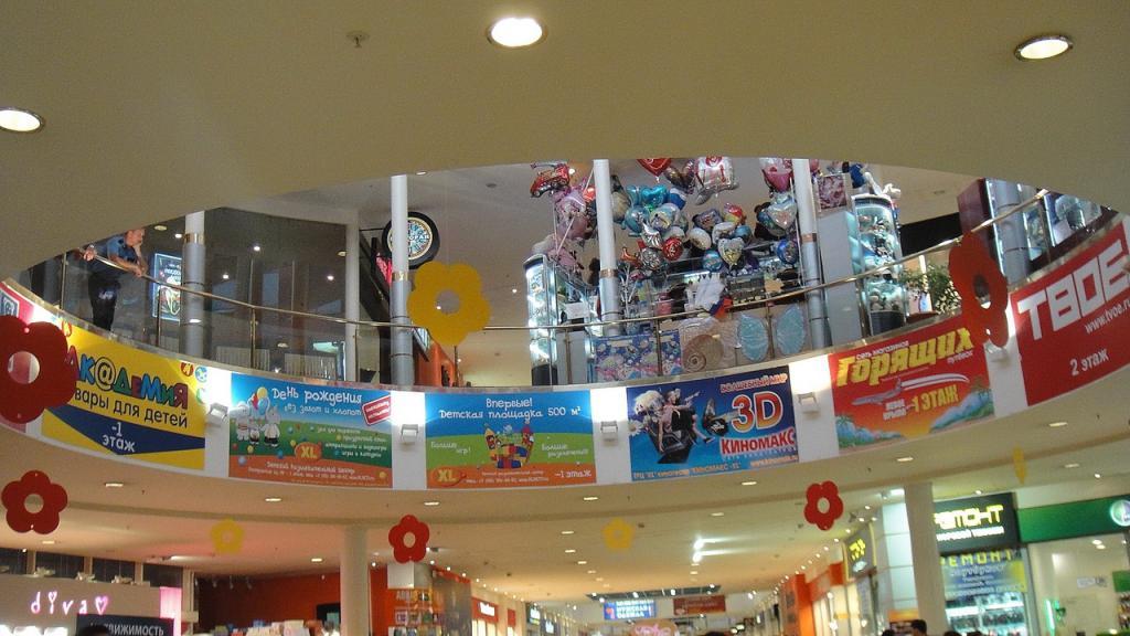 Магазины в ТЦ XL