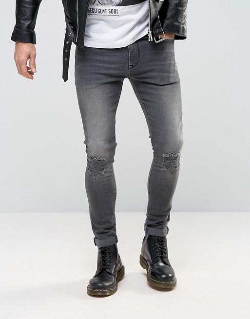 Слим фит джинсы с кожаной курткой