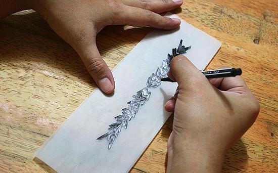 как сделать временную татуировку дома