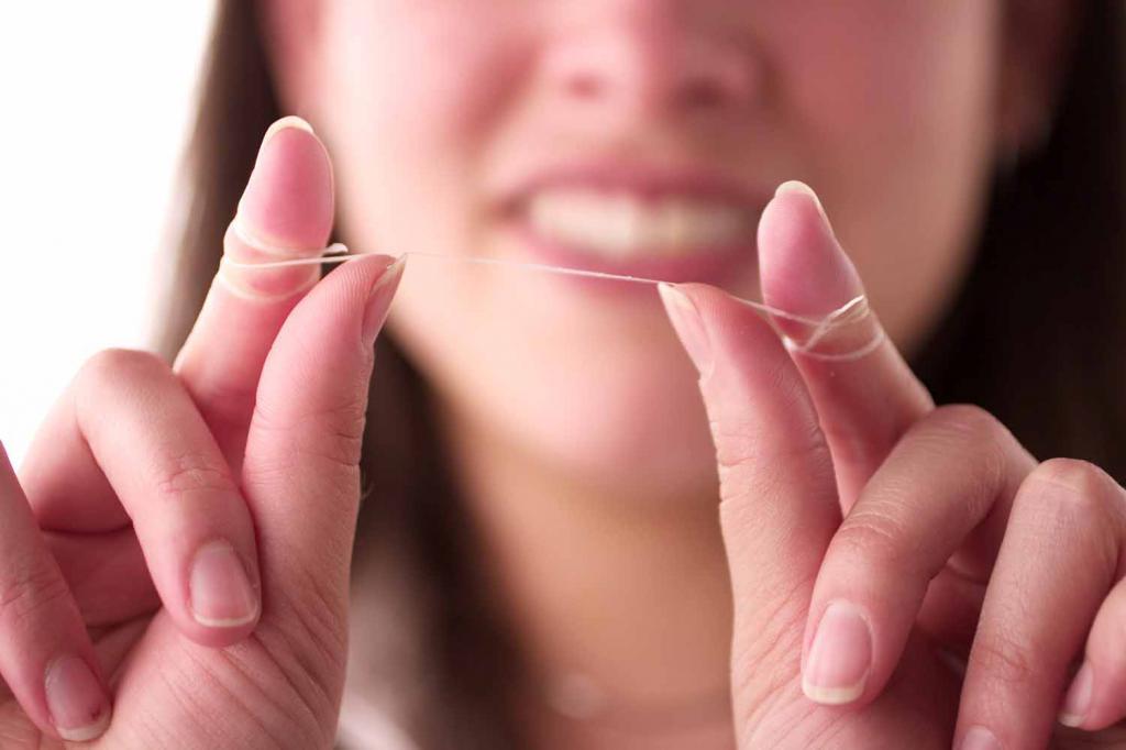 невощеная зубная нить