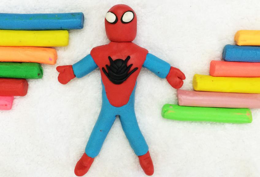 человек паук и пластилин