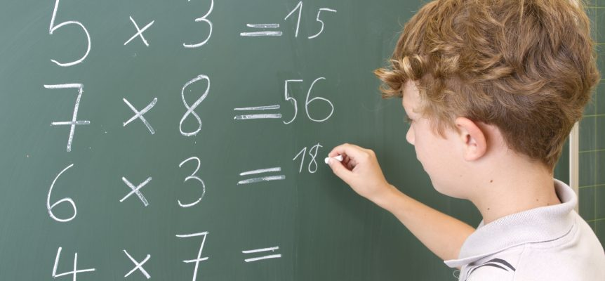 К считать таблицу умножения на пальцах?