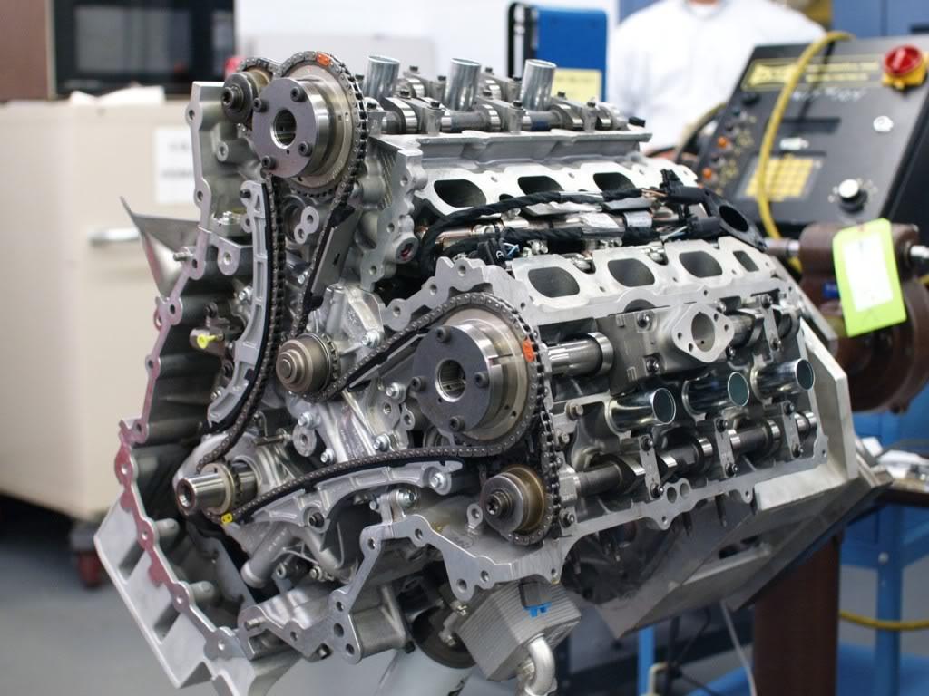 двигатель на тесте