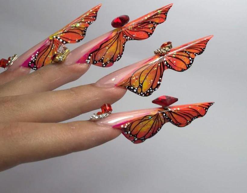 """Форма ногтей """"Бабочка"""""""