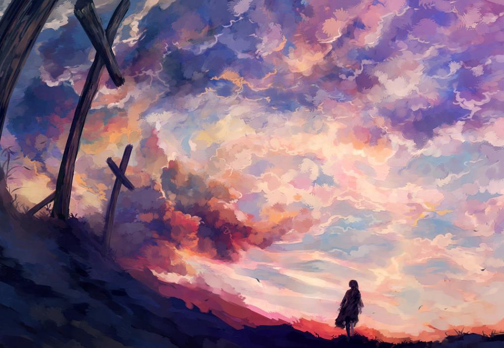христианская любовь на фоне небес