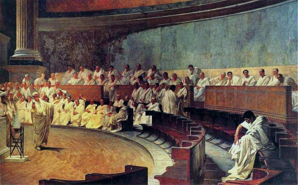 Заседание в римском Сенате