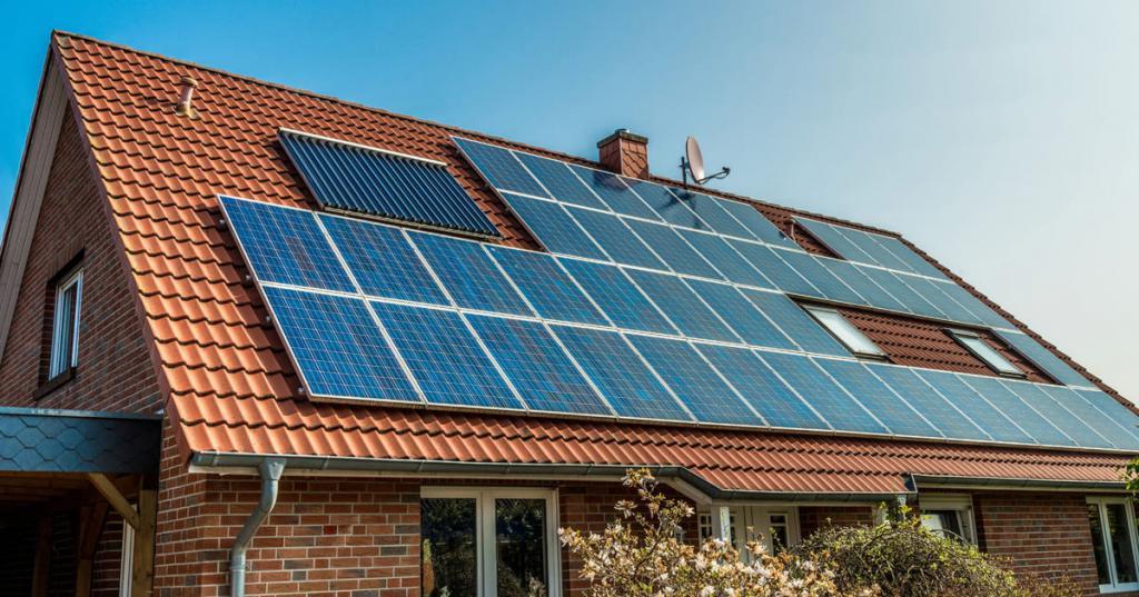 солнечная ферма на крыше