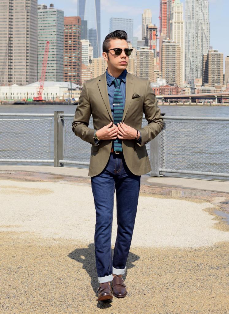 джинсовая рубашка под пиджак