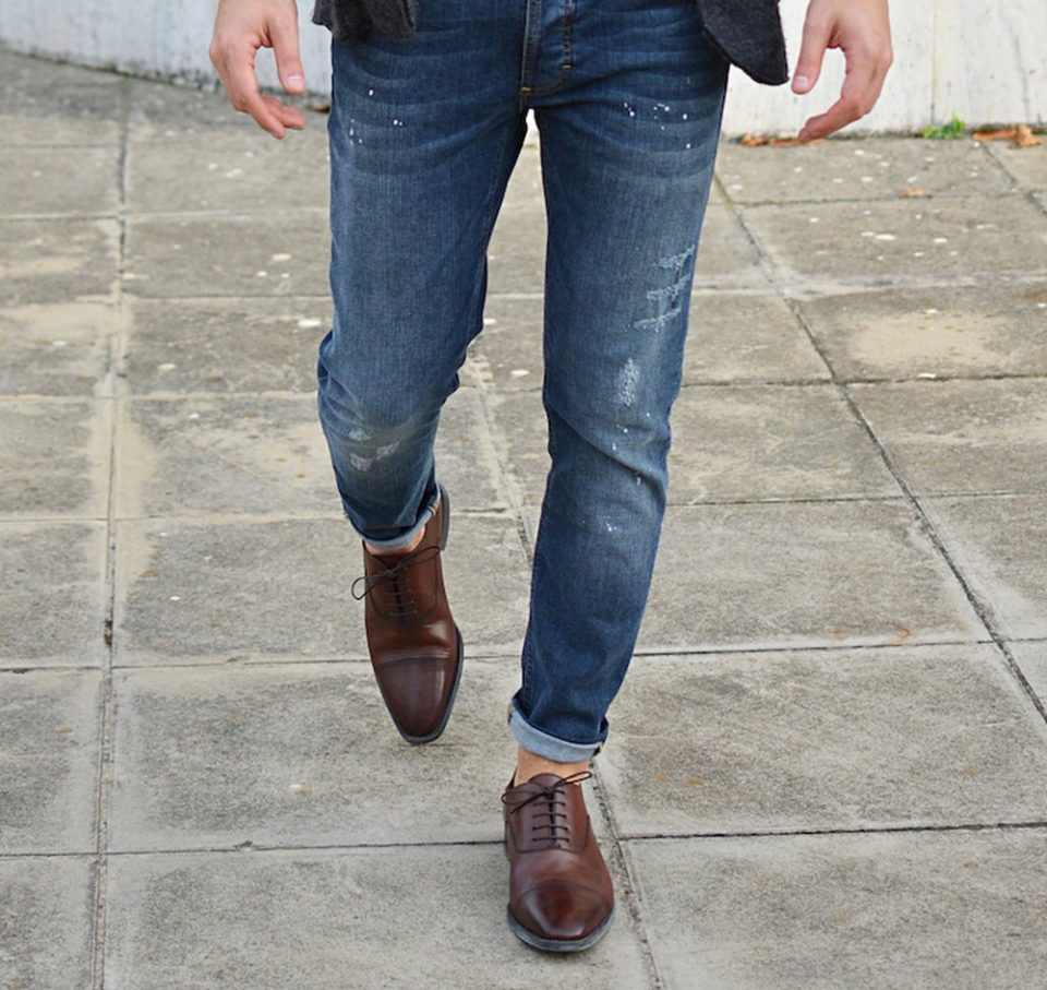 сочетание с классическими туфлями