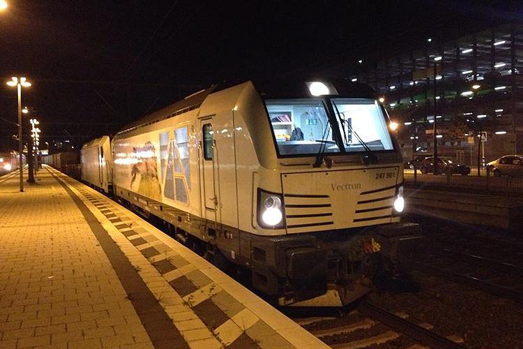 Локомотив на станции